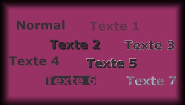 Effets avec le texte