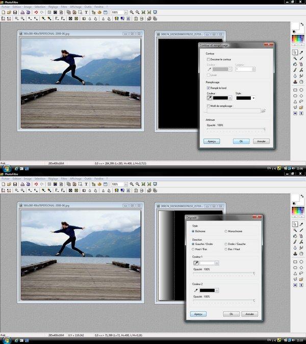 Deux images en fondu - Simplifié