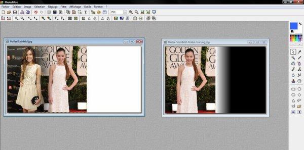 Trois images en fondu - Autre technique