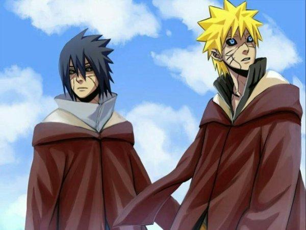 Sasuke et naruto en mode recarnation des âme c'est cool non
