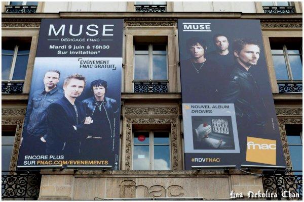 ♥ MUSE - 9 juin 2015 à la FNAC de la Gare Saint-Lazare de Paris ♥