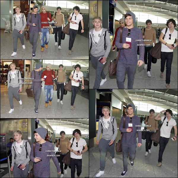 23.02.12 :  Les garçons ont étaient vus a l'aéroport Heathrow afin de partir pour leurs tourné au Etats-Unis avec les BTR , Londres.