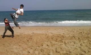 هدهي صورتي كنت اتدرب في البحر