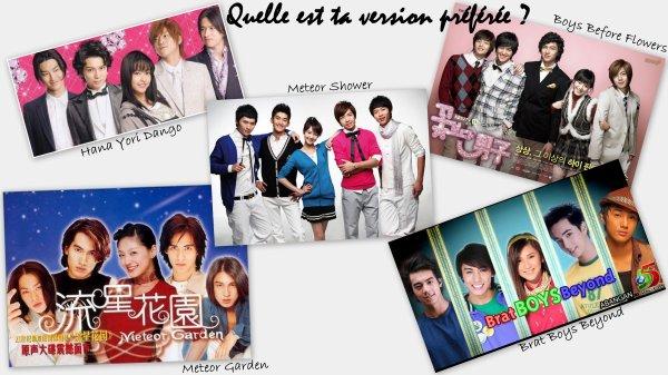 >> Sondage Sur Les Différentes Versions de Dramas