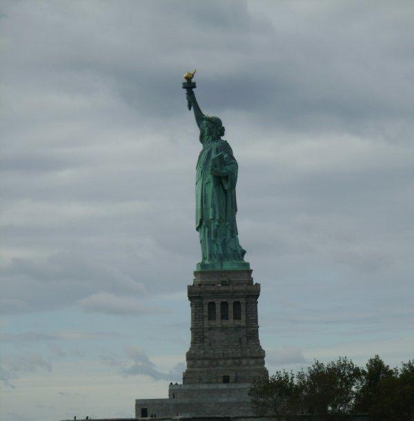La statue de la liberté.