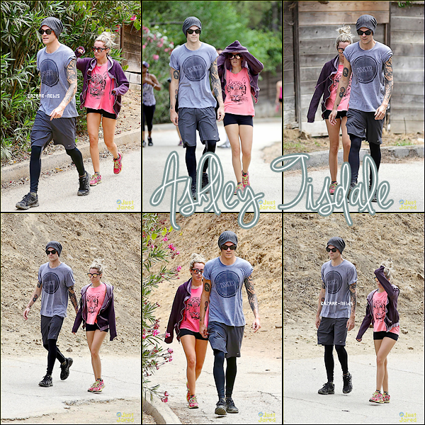 _____Catégorie  ~__ « Candids »  31 / 08 / 13 - Ashley Tisdale et sont Fiancé Christopher French font une randonnée à Los Angeles.  ► Il vont bien ensemble :) ! Et pour vous un TOP ou FLOP ?