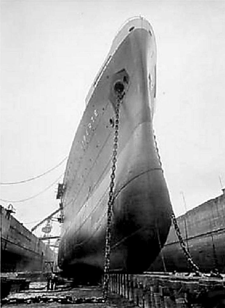 Saint Nazaire - Forme Joubert - 1950 - Drydock Joubert