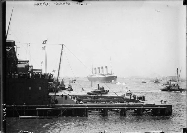 Maiden voyage of the OLYMPIC -  NEW-YORK 21 juin 1911 (2)