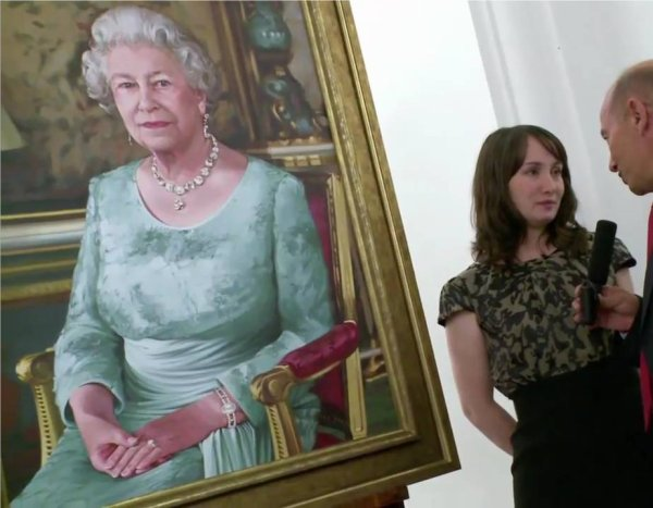 """New painting """"QEII portrait"""" by Isobel Peachey for the new Cunard cruise ship Queen Elizabeth"""