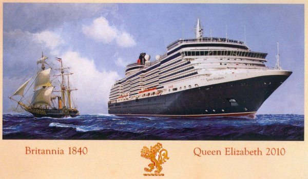 New Cunard QUEEN ELIZABETH - Maritime Paintings & Memorabilia
