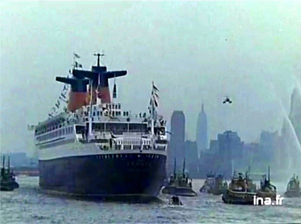 VOYAGE INAUGURAL du paquebot FRANCE - Maiden crossing of the ss FRANCE  Le Havre - New-York  - feb 1962