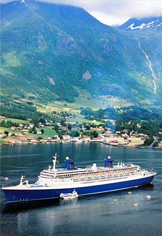 ss NORWAY Geiranger Fjord summer 1999