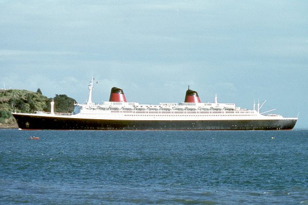 SS FRANCE Auckland Australia 1974 feb 11th
