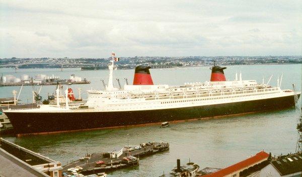 SS FRANCE Auckland Australia 1974 feb 11th