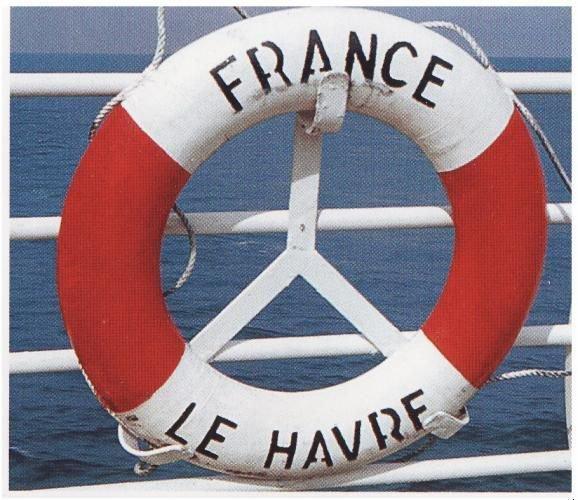 La bouée du FRANCE - the buoy of the SS FRANCE