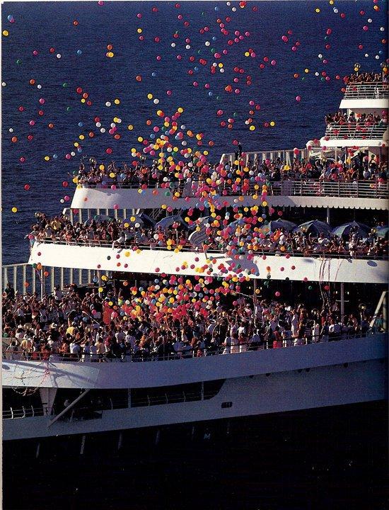 SS NORWAY années 80 au départ de Miami