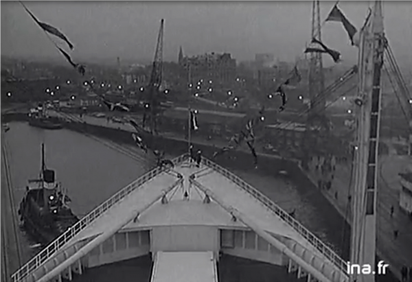 SS FRANCE maiden crossing  -  voyage inaugural