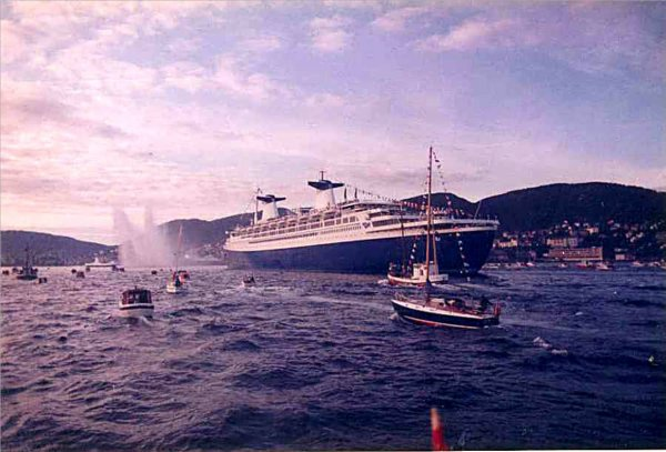 SS NORWAY may 1980 Norway