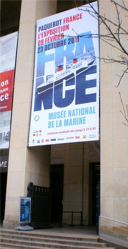 PAQUEBOT FRANCE L'EXPOSITION - MUSEE DE LA MARINE PARIS