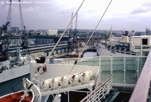 paquebot s/s FRANCE à Southampton