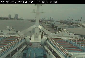 SS Norway bridge cam  2003 june, 25th & 26th - 25 & 26 juin 2003