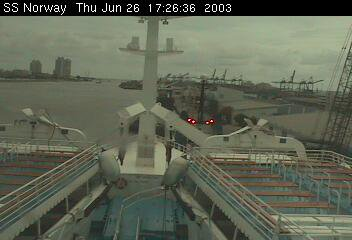SS Norway bridge cam  2003 june, 25th & 26th - 25 & 26 juin 2003