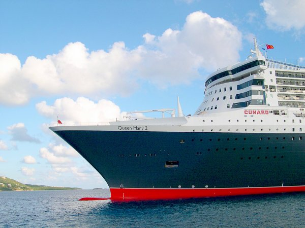 RMS QUEEN MARY 2 - Saint Thomas janvier 2004