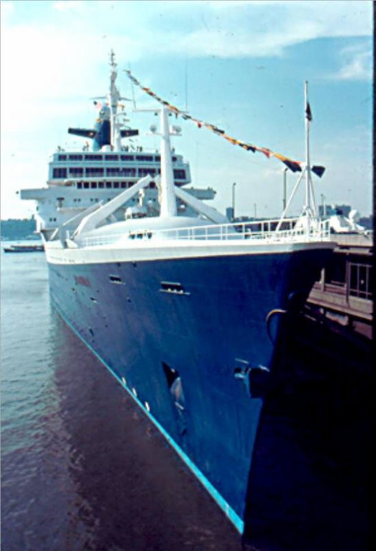 SS NORWAY : escale à New York  et départ vers Le Havre 03 septembre 1996