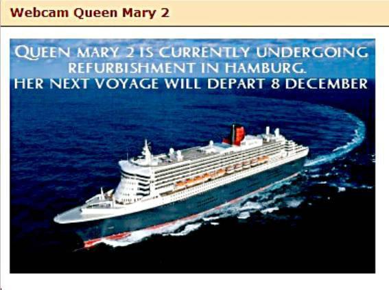 Le paquebot QUEEN MARY 2  est en carénage à Hamburg
