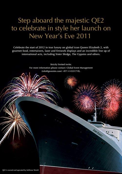 Nouvel An à bord du Queen Elizabeth 2 à Dubaï