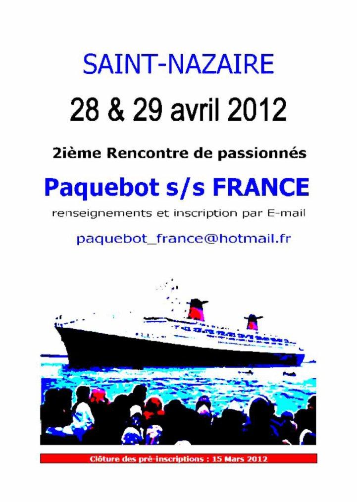 2° RENCONTRE PASSIONNES PAQUEBOT S/S FRANCE