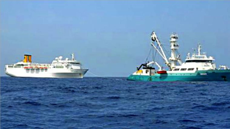 COSTA ALLEGRA  dans l'océan Indien 28 février 2012