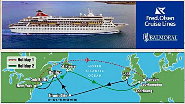 RMS TITANIC  &  BALMORAL la croisière 100° anniversaire