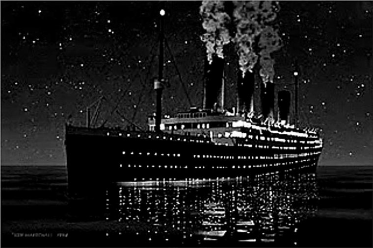 RMS TITANIC vers le naufrage