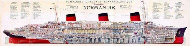 Maquette  à l'échelle 1/48° du s/s Normandie (2)