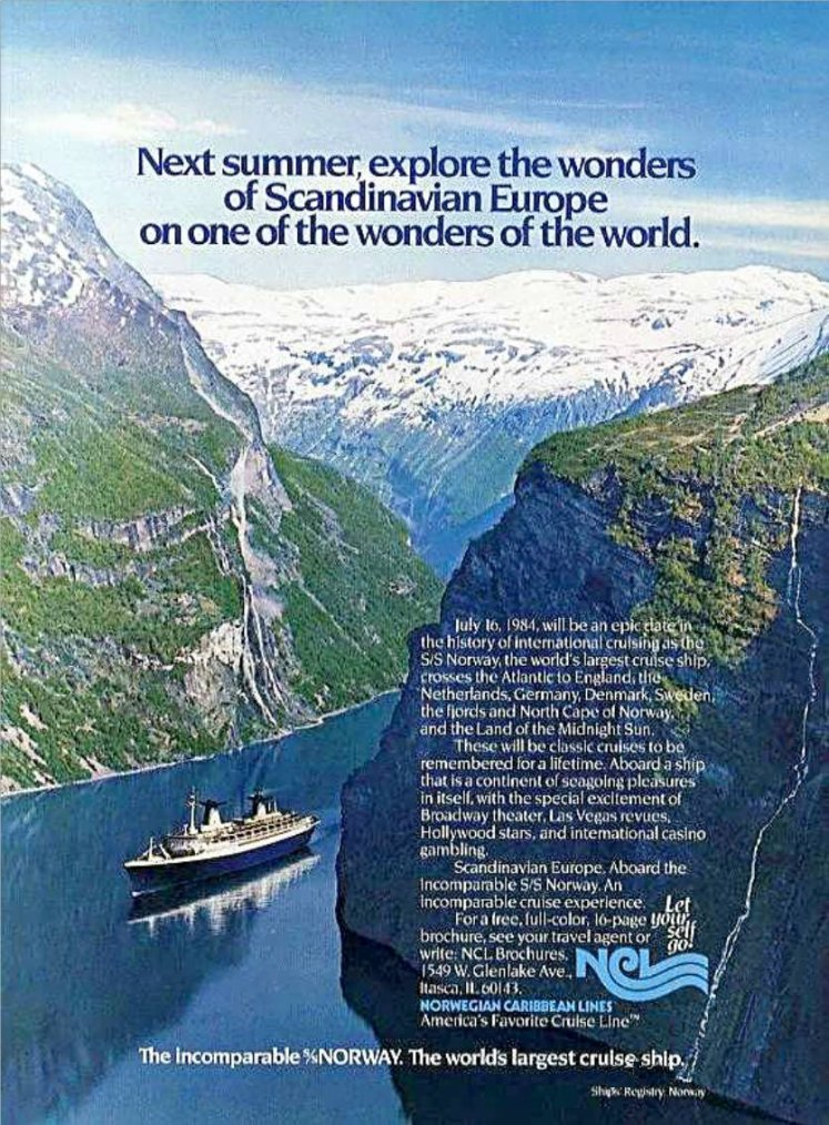 s/s NORWAY 1984  Oslo