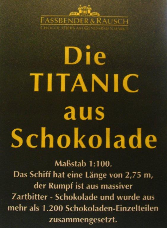 RMS TITANIC : 2,75 m de chocolat