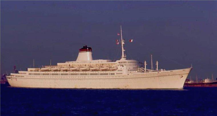 Voyage transatlantique à bord du LEONARDO DA VINCI 12 sept 1966