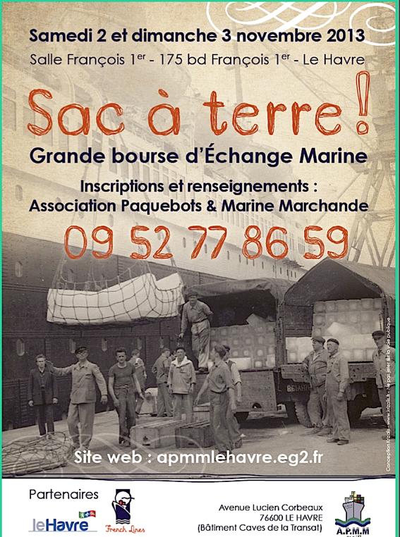 LE HAVRE - 2 & 3 novembre 2013 - BOURSE D'ECHANGE MARINE