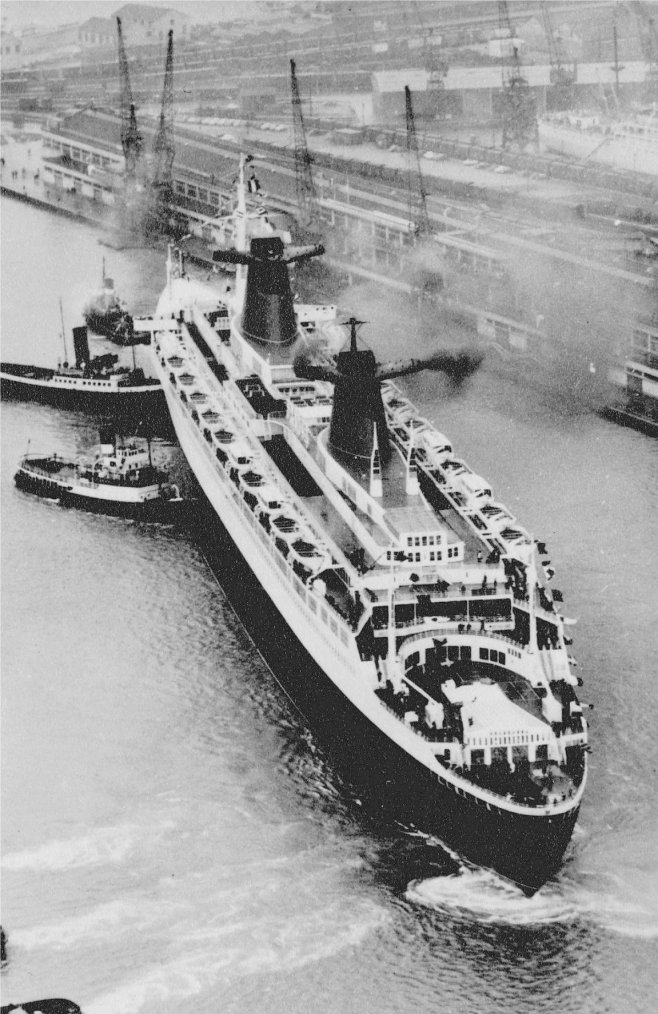SS FRANCE de Saint-Nazaire au Havre & Première escale à Southampton