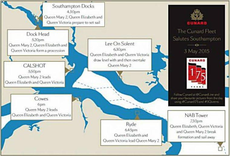 175ième anniversaire CUNARD : SOUTHAMPTON