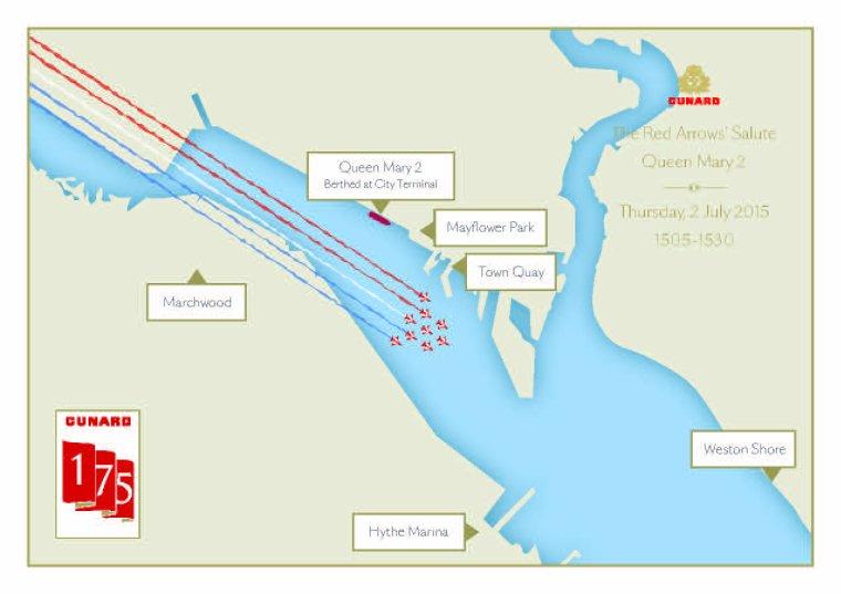 CUNARD QM2 175th ANNIVERSARY CROSSING : SOUTHAMPTON 02/07/2015
