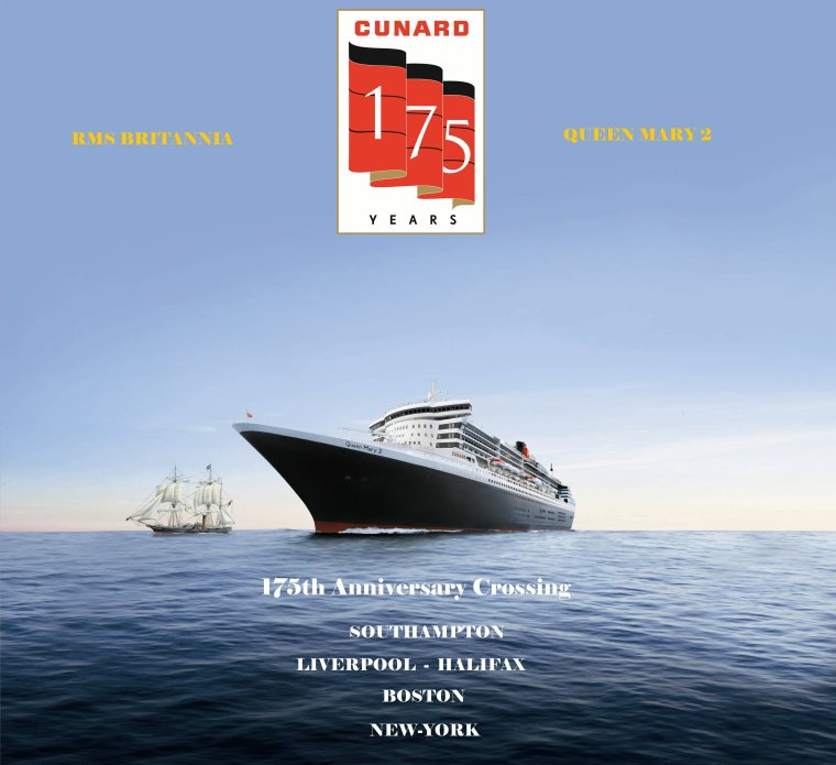 CUNARD QM2 175th ANNIVERSARY CROSSING : SOUTHAMPTON 02/07/2015