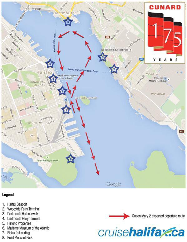 CUNARD QM2 175th ANNIVERSARY CROSSING : HALIFAX 10/07/2015 (2)