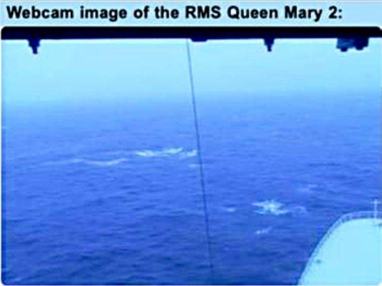 CUNARD QM2 175th ANNIVERSARY CROSSING : AT SEA  07/07/2015