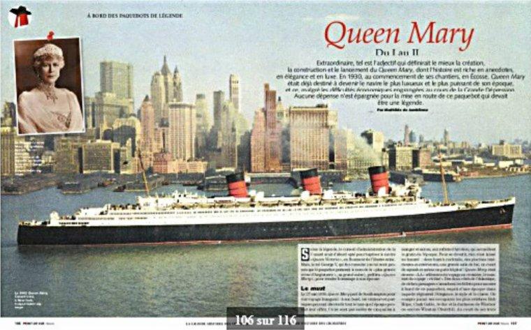 LA GRANDE HISTOIRE DES CROISIERES France Normandie Titanic QM2 Lusitania