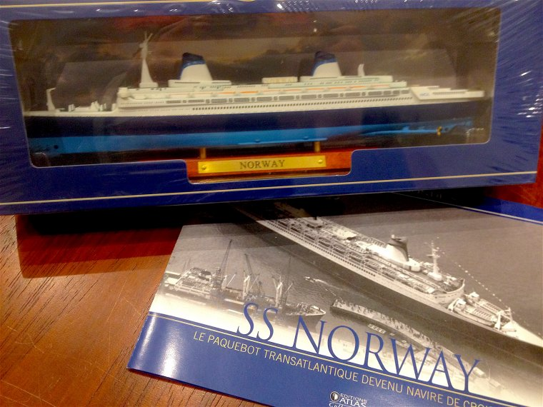 Nouvelle maquette du s/s NORWAY - New model of s/s NORWAY