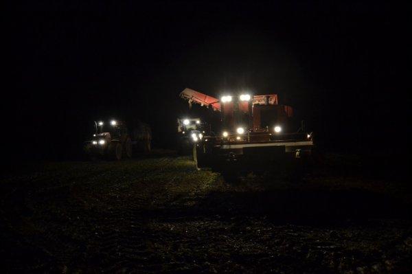 petit jeu, deviner la marque de l'arracheuse a betterave et le model et la marque et model des 2 tracteurs voir des bennes qu'il y a derrière même si on les vois pas trop