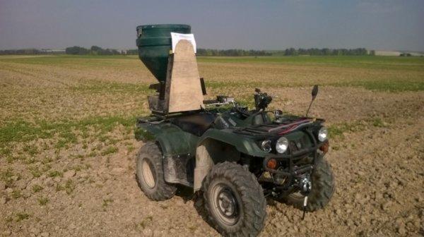 semis de moutarde au quad avec le grizzly 350