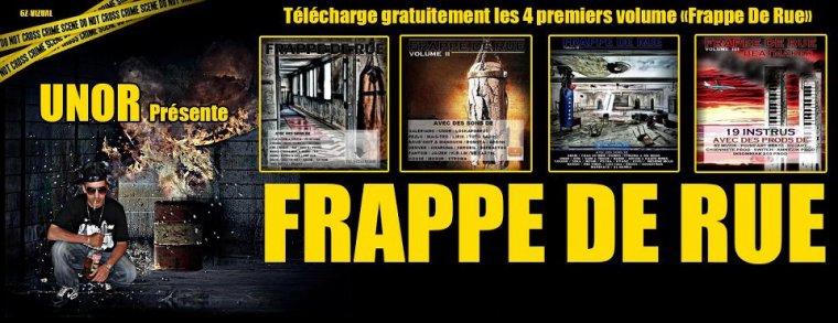 """présente sur """"Frappe de rue Vol.3"""" (UNOR) et """"Ça vient d'la rue"""" (DUJART)"""